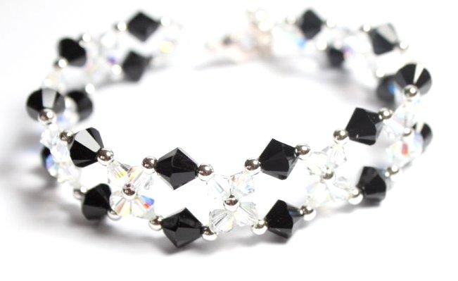 armband mit swarovski kristallen schwarz crystal ab mit. Black Bedroom Furniture Sets. Home Design Ideas