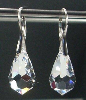 Ohrringe silber swarovski kristall